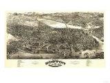 Boston, Massachusetts - Panoramic Map Prints