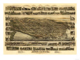 Bristol, Rhode Island - Panoramic Map Prints
