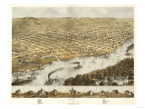 La Crosse, Wisconsin - Panoramic Map Prints