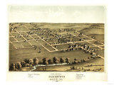 Blairstown, Iowa - Panoramic Map Prints by  Lantern Press