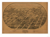 Chenoa, Illinois - Panoramic Map Prints
