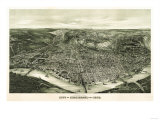 Cincinnati, Ohio - Panoramic Map Prints