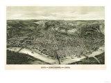 Cincinnati, Ohio - Panoramic Map Prints by  Lantern Press