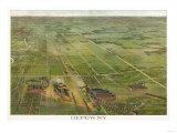 Depew, New York - Panoramic Map Prints by  Lantern Press