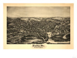 Houlton, Maine - Panoramic Map Prints