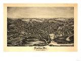 Houlton, Maine - Panoramic Map Prints by  Lantern Press