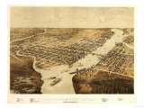 Green Bay, Wisconsin - Panoramic Map Prints by  Lantern Press