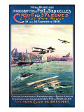Brussels, Belgium - Cancelled Float Plane Promotional Poster Prints by  Lantern Press