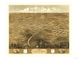 Independence, Missouri - Panoramic Map Prints