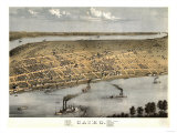 Cairo, Illinois - Panoramic Map Prints