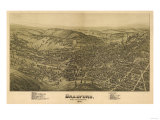 Bradford, Pennsylvania - Panoramic Map Prints