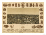 Dallas, Texas - Panoramic Map Prints by  Lantern Press