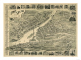 Derby, Connecticut - Panoramic Map Prints by  Lantern Press