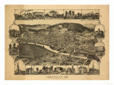 Corning, New York - Panoramic Map Prints by  Lantern Press