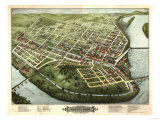 Holyoke, Massachusetts - Panoramic Map Prints by  Lantern Press