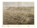 Fond du Lac, Wisconsin - Panoramic Map Prints by  Lantern Press