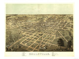 Belleville, Illinois - Panoramic Map Prints by  Lantern Press