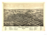 Bowling Green, Ohio - Panoramic Map Prints