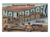 Holbrook, Arizona - Large Letter Scenes Prints by  Lantern Press