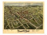 Danbury, Connecticut - Panoramic Map Prints by  Lantern Press