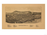 Cooperstown, New York - Panoramic Map Art by  Lantern Press