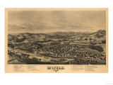 Dixfield, Maine - Panoramic Map Art by  Lantern Press