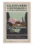 Glenwood Springs, Colorado - Health Resort Poster No. 2 Art