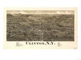 Clinton, New York - Panoramic Map Prints by  Lantern Press