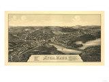 Ayer, Massachusetts - Panoramic Map Prints by  Lantern Press