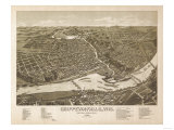 Chippewa Falls, Wisconsin - Panoramic Map Poster