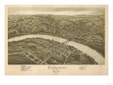 Fairmont, West Virginia - Panoramic Map Prints by  Lantern Press