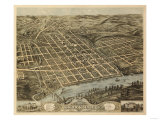 Knoxville, Tennessee - Panoramic Map Prints