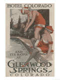 Glenwood Springs, Colorado - Hotel Colorado & Baths Poster Prints by  Lantern Press