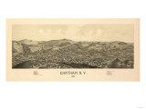Chatham, New York - Panoramic Map Prints by  Lantern Press