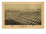 Aurora, Missouri - Panoramic Map Prints