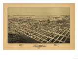 Aurora, Missouri - Panoramic Map Prints by  Lantern Press