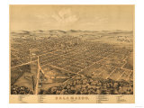 Kalamazoo, Michigan - Panoramic Map Prints by  Lantern Press