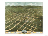 Bowling Green, Kentucky - Panoramic Map Prints