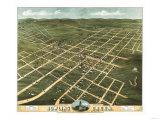 Bowling Green, Kentucky - Panoramic Map Prints by  Lantern Press