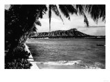 Honolulu, Hawaii - View of Diamond Head Photograph Prints by  Lantern Press