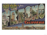 Fresno, California - Large Letter Scenes Prints