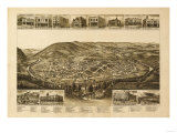 Harriman, Tennessee - Panoramic Map Prints