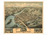 Birmingham, Connecticut - Panoramic Map Prints by  Lantern Press