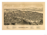 Catskill, New York - Panoramic Map Prints by  Lantern Press