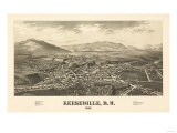 Keeseville, New York - Panoramic Map Prints
