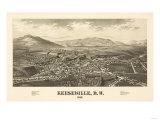 Keeseville, New York - Panoramic Map Prints by  Lantern Press