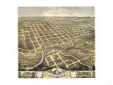 Faribault, Minnesota - Panoramic Map Prints