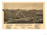 Ironwood, Michigan - Panoramic Map Prints by  Lantern Press
