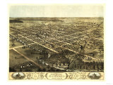 Kokomo, Indiana - Panoramic Map Reprodukcje autor Lantern Press
