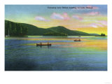 Lake George, New York - Bolton Landing View of Couples Canoeing Posters